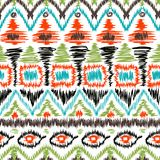 Seamless tribal ikat scribble pattern retro. Background Stock Images