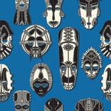 Seamless tribal mask. Tribal mask seamless pattern for design Royalty Free Stock Photos