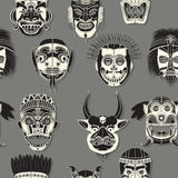 Seamless tribal mask. Tribal mask seamless pattern for design Royalty Free Stock Image