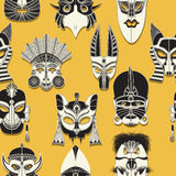 Seamless tribal mask. Tribal mask seamless pattern for design Stock Photos