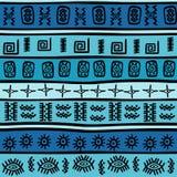 Seamless with tribal motifs Stock Photos