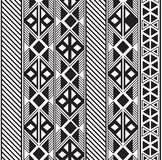 Seamless tribal pattern design in black and white royalty free illustration