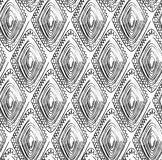 Seamless tribal pattern with a diamond motif of an African tribe royalty free stock images