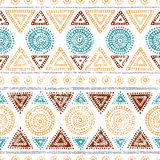 Seamless tribal pattern. Grunge texture. Ethnic and aztec motive Royalty Free Stock Image