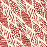 Seamless Tribal Pattern Leaves Skeleton Stock Photo