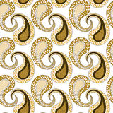 Seamless Tribal Pattern Leaves Skeleton Stock Photos