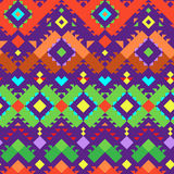 Seamless Tribal Pattern for Textile Design. Vector Background - mix of zigzag and colorful triangles royalty free illustration