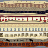 Seamless tribal texture Stock Images