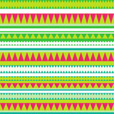 Seamless tribal texture. Tribal pattern. Colorful ethnic striped Royalty Free Stock Photos