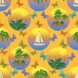 Seamless tropical background Stock Photography