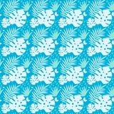 Seamless tropical background Stock Images
