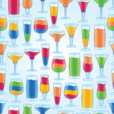 Seamless Tropical Drinks Background. Seamlessly repeating tropical drinks background. EPS10 file Stock Photography