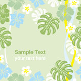 Seamless tropical green frame vector illustration
