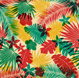 Seamless tropical jungle pattern Royalty Free Stock Image