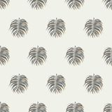 Seamless Tropical Palm Leafs Pattern Background Royalty Free Stock Photography
