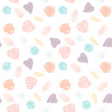 Seamless tropical palm leaves pattern stock illustration