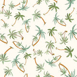 Seamless tropical palms pattern Stock Images