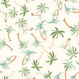 Seamless tropical palms pattern Royalty Free Stock Photos