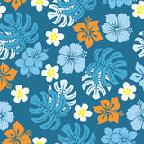 Seamless tropical pattern Royalty Free Stock Image