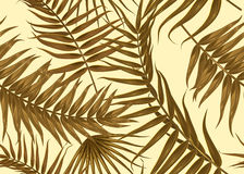 Seamless tropical pattern, exotic background with palm tree branches, leaves, leaf, palm leaves. endless texture Stock Photography