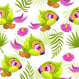 Seamless tropical pattern Stock Photos
