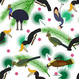 Seamless tropical pattern Stock Images