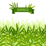 Seamless tropical pattern with stylized bamboo Royalty Free Stock Photography
