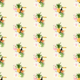 Seamless Tropical Pattern Stock Photography