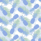 Seamless tropical pineapple pattern Stock Images
