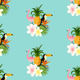 Seamless Tropical Theme background Royalty Free Stock Image