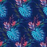 seamless tropiskt för modell arkivfoto