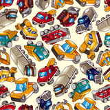 Seamless truck pattern Royalty Free Stock Photo