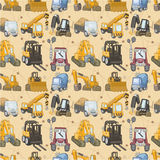 Seamless truck pattern. Vector drawing Royalty Free Stock Photography