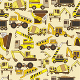 Seamless truck pattern. Drawing Royalty Free Stock Photography