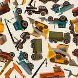 Seamless truck pattern Stock Photography