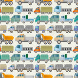 Seamless truck pattern. Drawing Stock Images