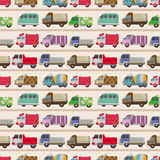 Seamless truck pattern Royalty Free Stock Photos