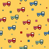 Seamless truck toys background. Stock Image