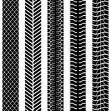 Seamless truck tyre tracks Royalty Free Stock Photos