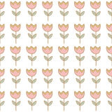 Seamless tulip flower background pattern Royalty Free Stock Images
