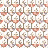Seamless tulip flower background pattern Royalty Free Stock Photos