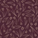 Seamless tulip pattern Royalty Free Stock Images