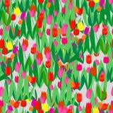 Seamless tulip pattern stock illustration