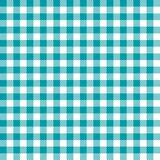 Seamless Turguoise Checkered Fabric Pattern Background Texture. Wallpaper vector illustration