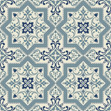 Seamless turkish colorful pattern. Endless pattern can be used for ceramic tile, wallpaper, linoleum, web page background. Stock Photography