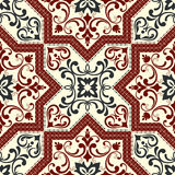 Seamless turkish colorful pattern. Endless pattern can be used for ceramic tile, wallpaper, linoleum, web page background. Royalty Free Stock Photography