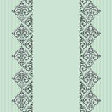 Seamless turquoise border Stock Photo