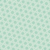 Seamless turquoise diagonal japanese asanoha pattern vector Stock Image