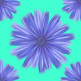 Seamless Turquoise Floral Pattern Background Stock Photos