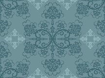 Seamless Turquoise Floral Wallpaper Royalty Free Stock Photo